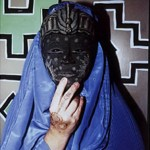 "Burqa with Blue Mask - 14"" x 16"" Photo"