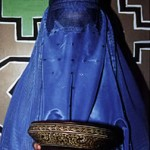 "Burqa with Bowl - 14"" x 16"" Photo"