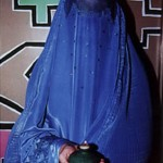 "Burqa with Flame - 14"" x 16"" Photo"