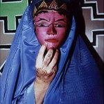 "Burqa with Pink Mask - 14"" x 16"" Photo"