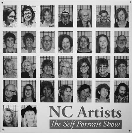 NC Artists Self Portrait Show Opening at Haustudio